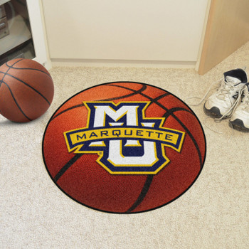 """27"""" Marquette University Basketball Style Round Mat"""