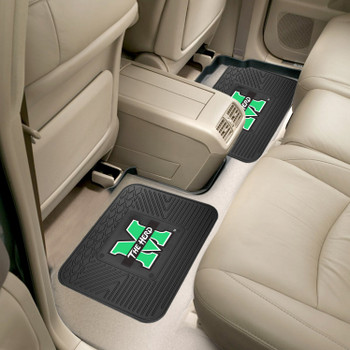 Marshall University Heavy Duty Vinyl Car Utility Mats, Set of 2