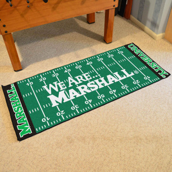 "30"" x 72"" Marshall University Football Field Rectangle Runner Mat"
