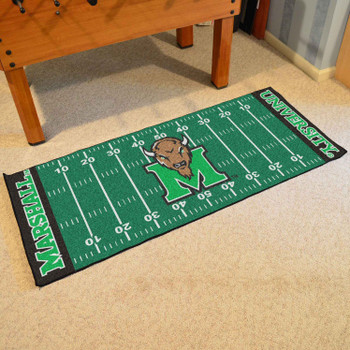 "30"" x 72"" Marshall University Thundering Herd Football Field Rectangle Runner Mat"