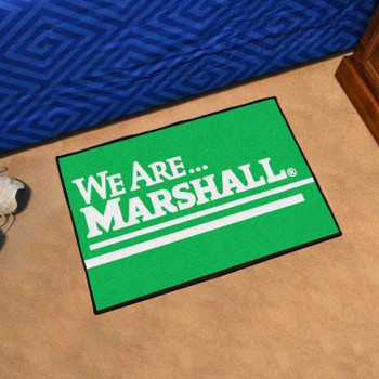 "19"" x 30"" Marshall University Green Rectangle Starter Mat"
