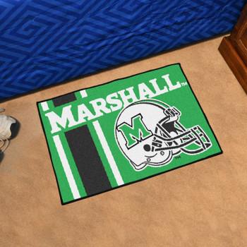 "19"" x 30"" Marshall University Uniform Green Rectangle Starter Mat"