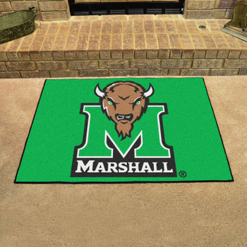 "33.75"" x 42.5"" Marshall University All Star Green Rectangle Mat"