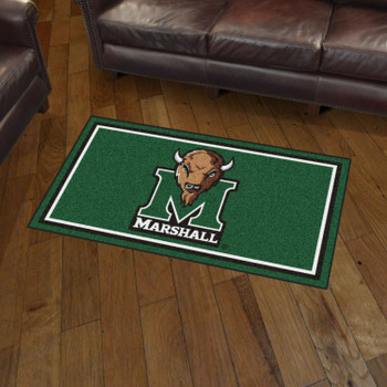 3' x 5' Marshall University Green Rectangle Rug