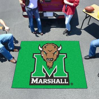 "59.5"" x 71"" Marshall University Green Tailgater Mat"