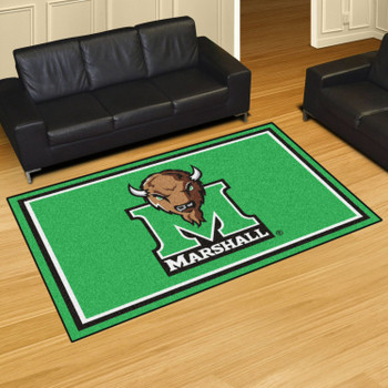 5' x 8' Marshall University Green Rectangle Rug