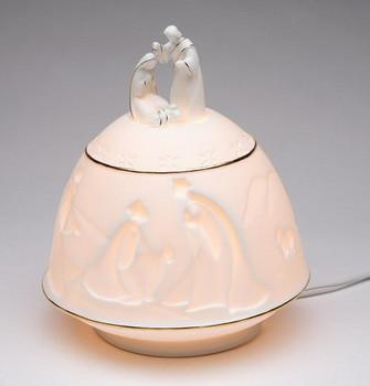 Nativity Porcelain Lighted Nativity Scene Sculpture