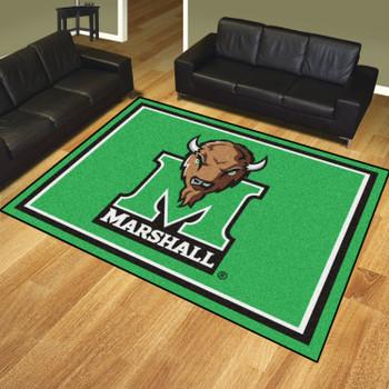 8' x 10' Marshall University Green Rectangle Rug