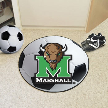 "27"" Marshall University Soccer Ball Round Mat"