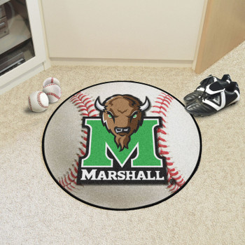 "27"" Marshall University Baseball Style Round Mat"