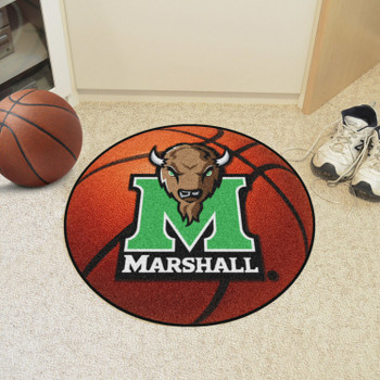 "27"" Marshall University Basketball Style Round Mat"