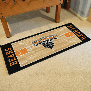 "30"" x 72"" Mercer University NCAA Basketball Rectangle Runner Mat"