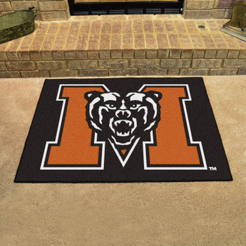 "33.75"" x 42.5"" Mercer University All Star Black Rectangle Mat"