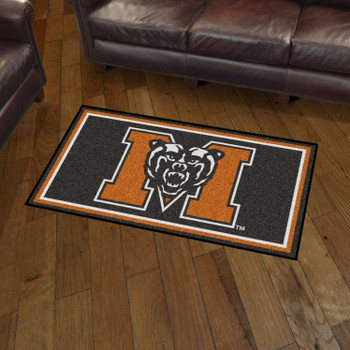 3' x 5' Mercer University Black Rectangle Rug