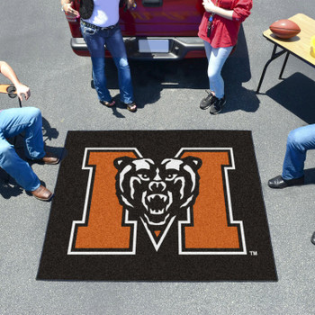 "59.5"" x 71"" Mercer University Black Tailgater Mat"
