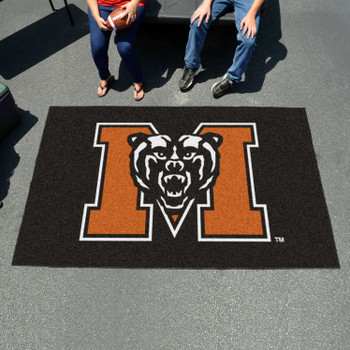 "59.5"" x 94.5"" Mercer University Black Rectangle Ulti Mat"