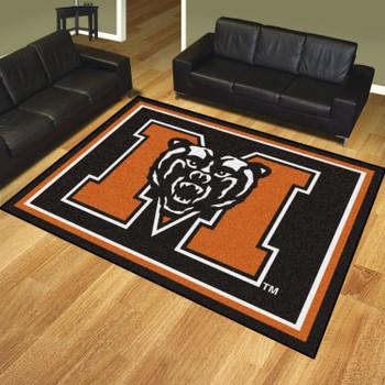 8' x 10' Mercer University Black Rectangle Rug