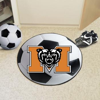 """27"""" Mercer University Soccer Ball Round Mat"""