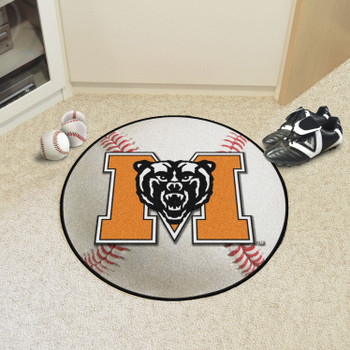 "27"" Mercer University Baseball Style Round Mat"