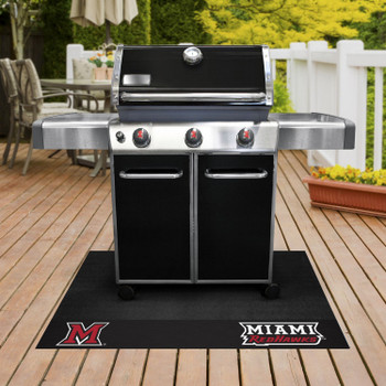 "26"" x 42"" Miami University (OH) Grill Mat"