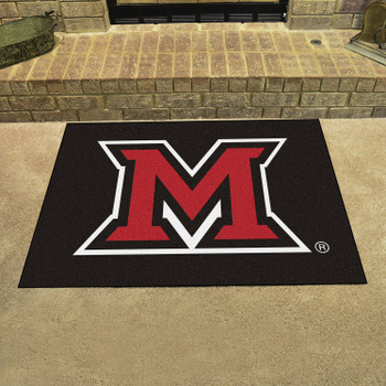 "33.75"" x 42.5"" Miami University (OH) All Star Black Rectangle Mat"