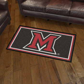 3' x 5' Miami University (OH) Black Rectangle Rug