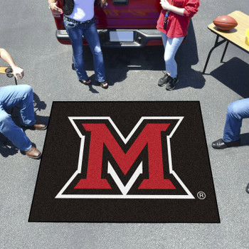 "59.5"" x 71"" Miami University (OH) Black Tailgater Mat"