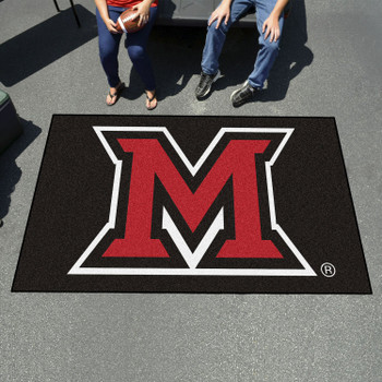 "59.5"" x 94.5"" Miami University (OH) Black Rectangle Ulti Mat"