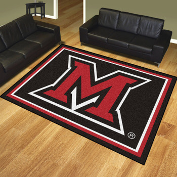 8' x 10' Miami University (OH) Black Rectangle Rug
