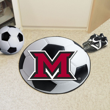 "27"" Miami University (OH) Soccer Ball Round Mat"