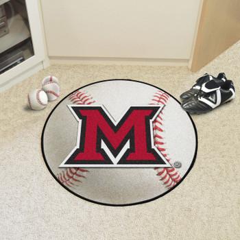 "27"" Miami University (OH) Baseball Style Round Mat"