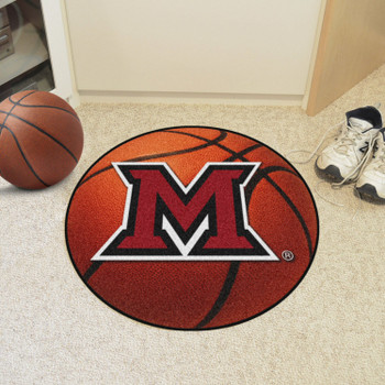 "27"" Miami University (OH) Basketball Style Round Mat"