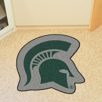 "Michigan State University Mascot Mat - ""Spartan Helmet"" Logo"