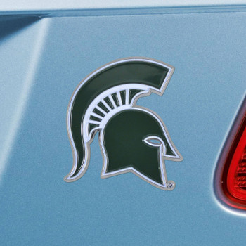 Michigan State University Green Color Emblem, Set of 2