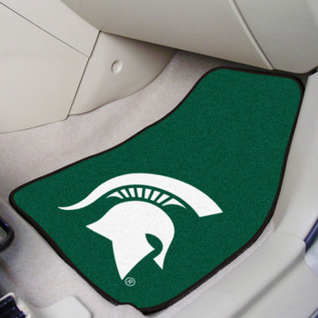 Michigan State University Green Carpet Car Mat, Set of 2
