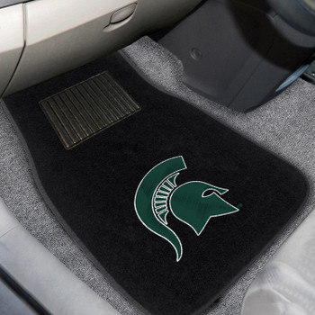 Michigan State University Embroidered Black Car Mat, Set of 2
