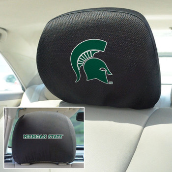 Michigan State University Car Headrest Cover, Set of 2
