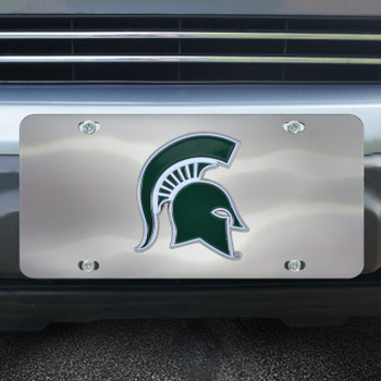 Michigan State University Diecast Stainless Steel License Plate