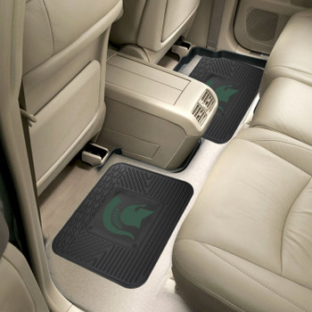 Michigan State University Heavy Duty Vinyl Car Utility Mats, Set of 2