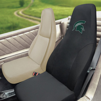 "Michigan State University Car Seat Cover - ""Spartan Helmet"" Logo"
