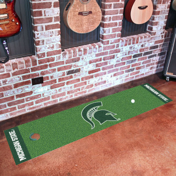 "18"" x 72"" Michigan State University Putting Green Runner Mat"