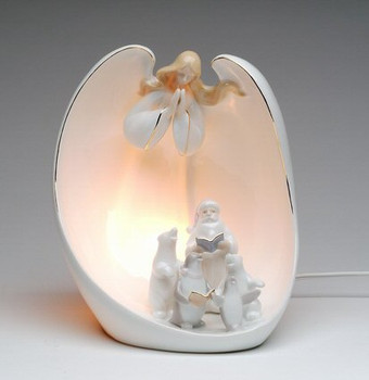 Guardian Angel Choir Porcelain Lighted Nativity Scene Sculpture