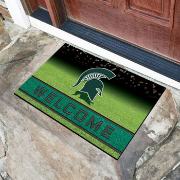 "18"" x 30"" Michigan State University Crumb Rubber Door Mat"