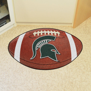 "20.5"" x 32.5"" Michigan State University Football Shape Mat"