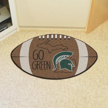 """20.5"""" x 32.5"""" Michigan State University Southern Style Football Shape Mat"""