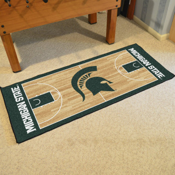 "30"" x 72"" Michigan State University NCAA Basketball Rectangle Runner Mat"