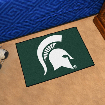 "19"" x 30"" Michigan State University Green Rectangle Starter Mat"