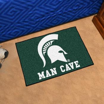 "19"" x 30"" Michigan State University Man Cave Starter Green Rectangle Mat"
