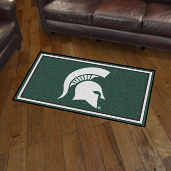 3' x 5' Michigan State University Green Rectangle Rug