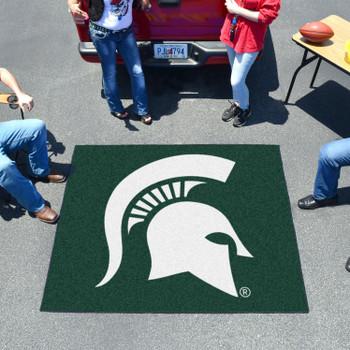 """59.5"""" x 71"""" Michigan State University Green Tailgater Mat"""